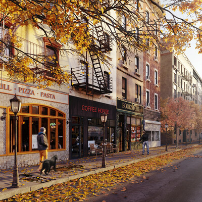 осень, утро, нью йорк, бруклин