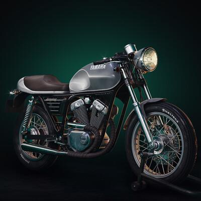 renaissa, caferacer, bike, retrobike, motorbike, motorcycle, Yamaha