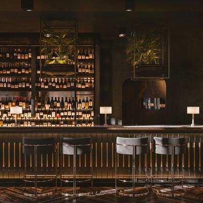 Corona Renderer, Adobe Photoshop, Minimalist Loft, classic art, Modern classic interior design
