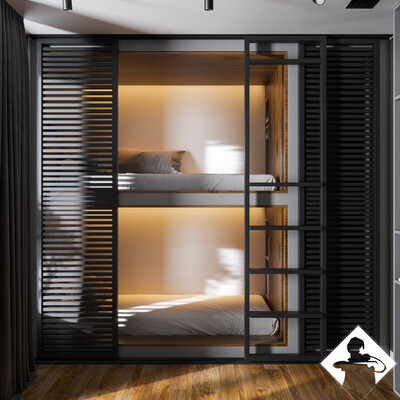 bedroom visualization, bedroomdesign, children's room