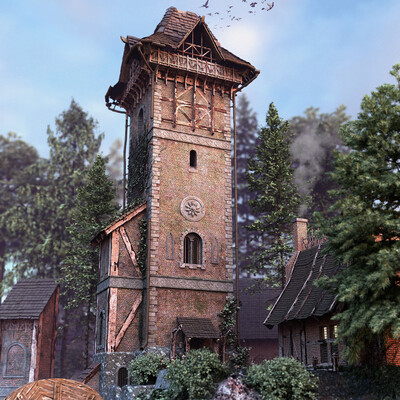 tower, Witcher, landscape