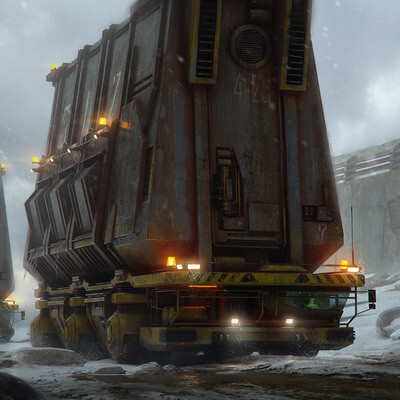 sci-fi, Transport & Vehicles, truck