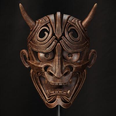 japanesedemon, Japanese, wood mask
