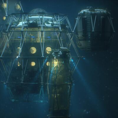 Бич Юпитера, Конкурсы на RENDER.RU, станция, подводный мир