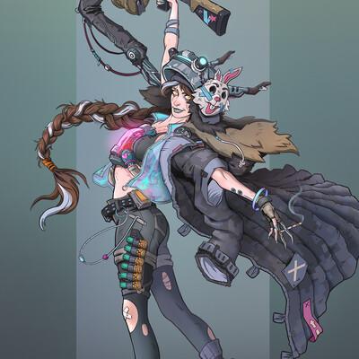 cyber punk, concept-art, design_character