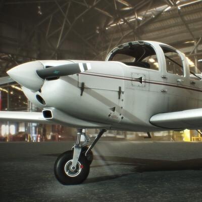 PA38, aircraft, airplane, P3D, XPLANE, Flight simulator, 3d model