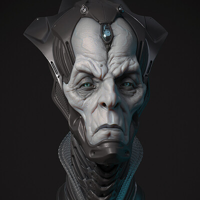 Digital 3D, Characters, Fantasy, Concept Art, digital3d, timelapse, bust, hardsurface, evil