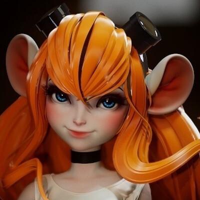 3d, Character, design_character, girl, disney, Walt Disney, Digital 3D, Highpoly, high poly