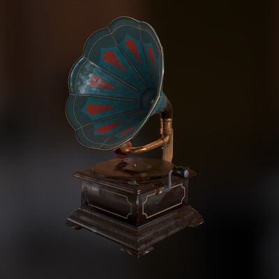 gramophone records vinyl retro music audio acoustics record player art the museum radiola
