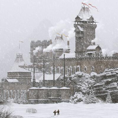 царьпанк, окружение, зима, снег, дизельпанк, русский, завод