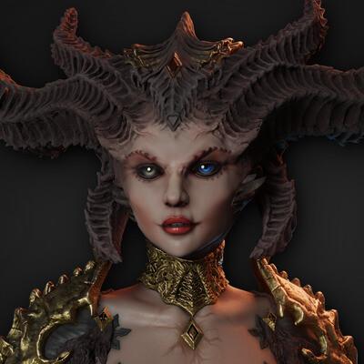 Lilith, Лилит, diablo 4, diablo 3, diablo, Blizzard Entertainment, Blizzard, female, stylizedart