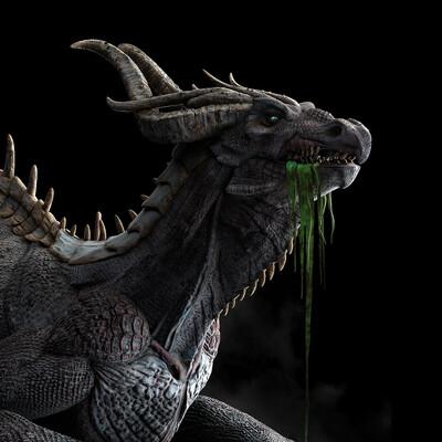 Fantasy, dragon, creature, 3d sculpt