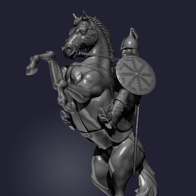 chess, chess figure, horseman, knight, 3d warrior, warrior, 3dmodel, 3d modeling, ZBrush, Blender