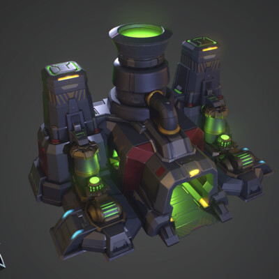 stylized, Blizzard, Game-ready, LowPoly, factory