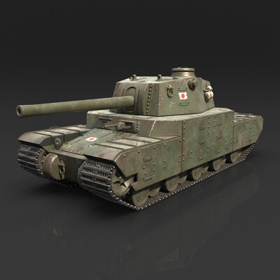 Transport & Vehicles, WWII, WOT, type, Japanese, heavy, tank, weapon, 2605, Type 5 Heavy