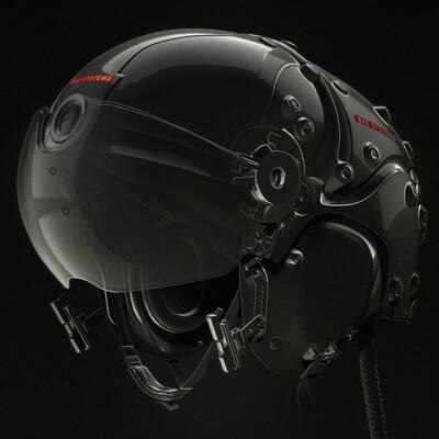 Hard-Surface, helmet, Striker II HMD, aircraft, BAE Systems