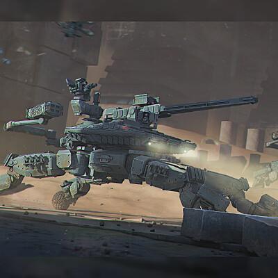 роботизированный, шагающий, Танки, меха, дрон, военный танк