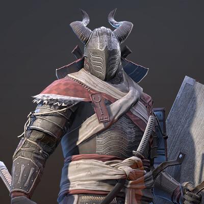 samurai, 3d characher