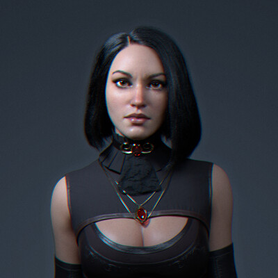 Characters, characterdesign, woman, girl, zbrush sculpting, render skin, cg hair, haircut, XGen