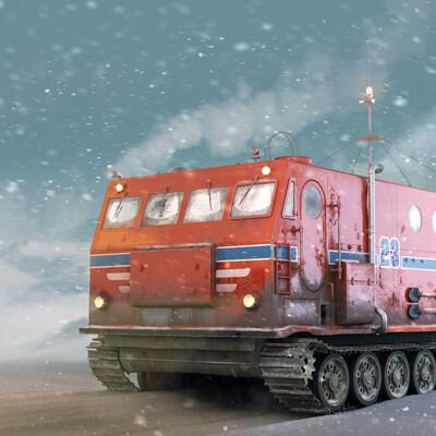 Kharkovchanka, 3d, self-isolation, vehicle