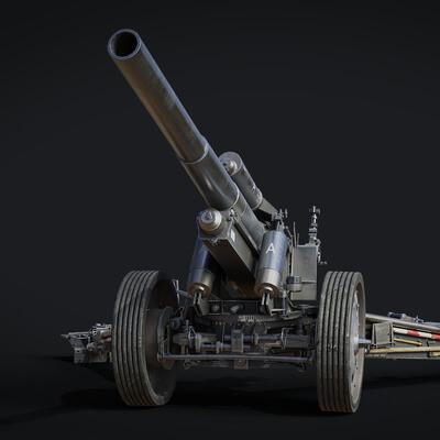 howitzer, sfh, gun, cannon, ww2, WWII, War, german, vehicle, military