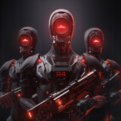 scifi, robot, design_character, 3d, hard surface, concept