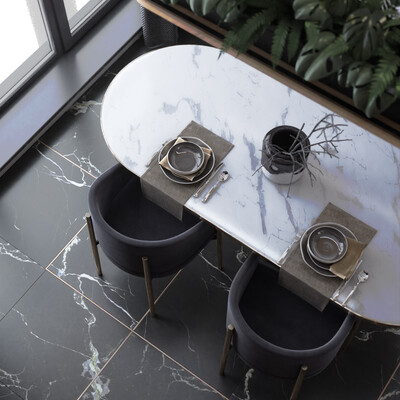 мрамор, черный, кухня, современный, монстера, Зелень, гостиная, кухня-гостиная, гостиная. интерьер, Диван для гостиной мебель интерьер дизайн фурнитура гостиная комната отдыха модель полигоны кожа текстура ткань минимализм мода спаль