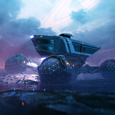 space rover, Transport & Vehicles, sci-fi, high-tech