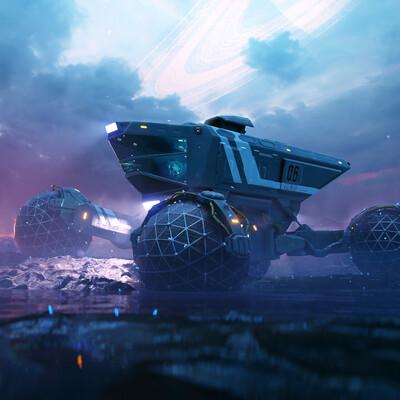 space rover, high tech, sci-fi,, Vehicles