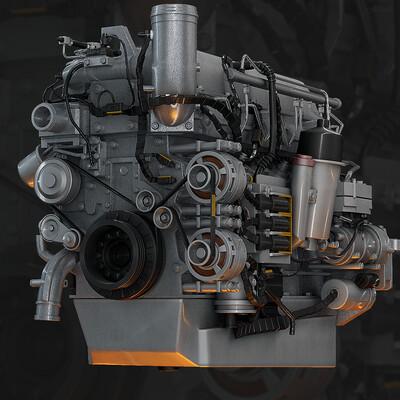 двигатель, Дизельный, Рядный, Мотор, Paccar