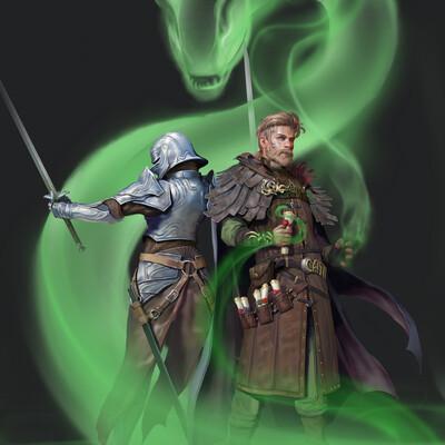 маг, рыцарь
