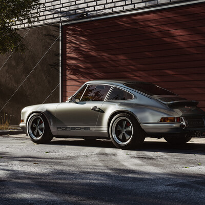 PORSCHE 911, fullcgi, lighting, rendering, singer, V-ray