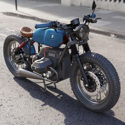 мотоцикл, BMW, транспорт