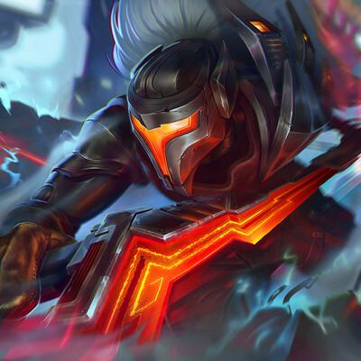 Digital 2D, illustration, Fan art, Alexey Iavtushenco, PROJECT: Yasuo, League of Legends, spalsh art, spallmor, Riot Games