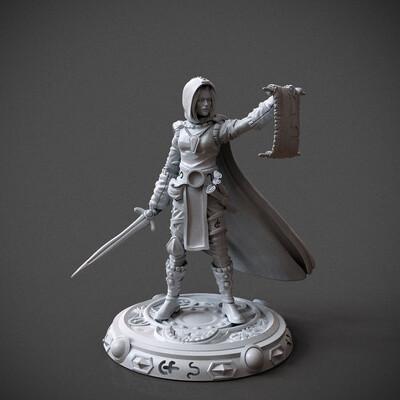 wizard, miniature, 3dprint