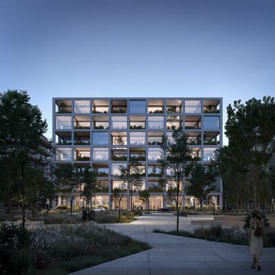 3D Architecture, architecture, archvis, Archiviz, architectural visualization, paris, Office building