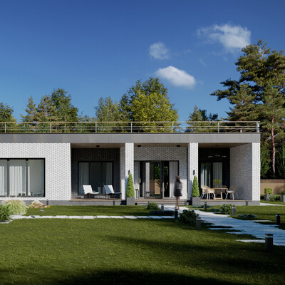 3ds Max, Corona Renderer, extexterior, visualization, architect, architecture, fullcgi, cgart, 3d, house visualization