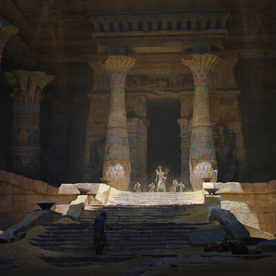 Fantasy, environment, Concept art, Egypt, ancients