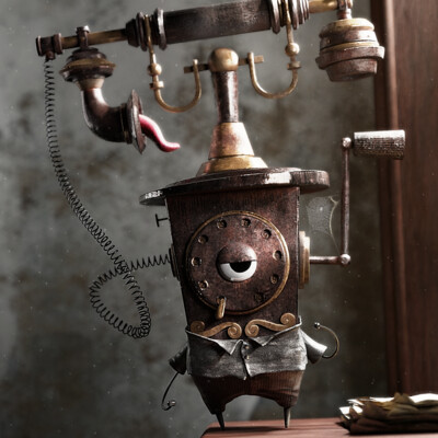 Phone, Old, old metal, rust, rusty, strange, magic, horror, monster, Vintage