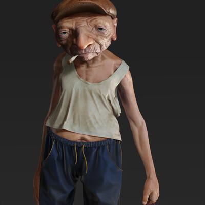 digital3d, Character, Character Modeling, ZBrush, oldman
