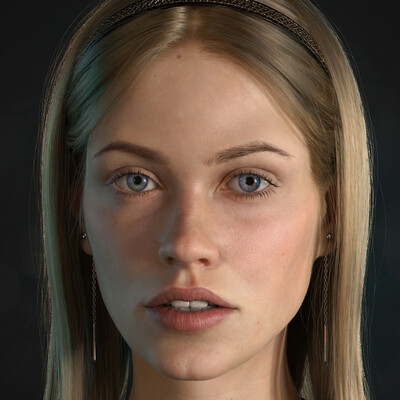 photorealistic, girl, arnold render, Autodesk Maya