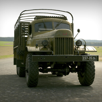 Техника, зил157, автомобили, военные, зилок, колун, 3д модели, лихачев