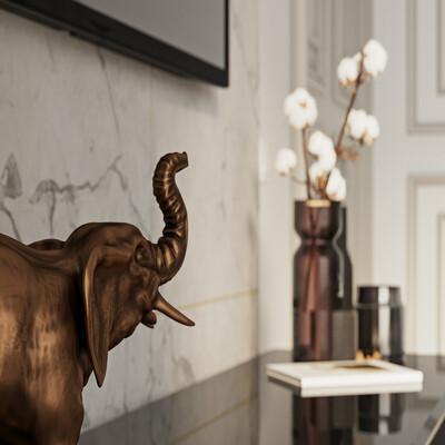 гостиная, интерьер, слон