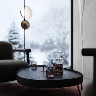 интерьер, отель, Альпы