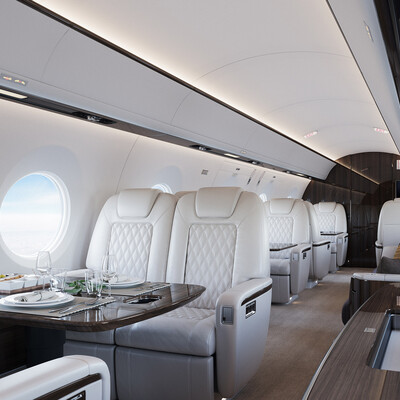 самолет, интерьер, авиация, бизнесджет