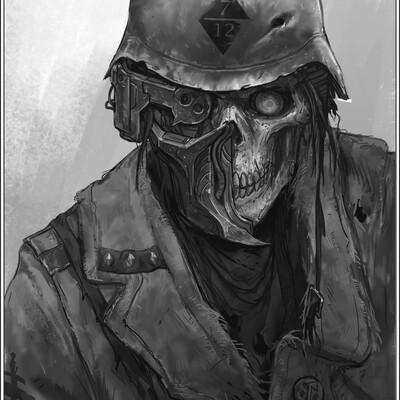 grimdark, soldier, sketching, drawing, concept, illustration