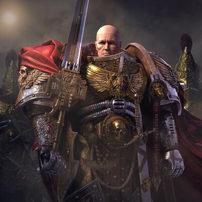 3ds Max, 3dmodel, 3d modeling, Warhammer 40k, 3d warrior, warrior