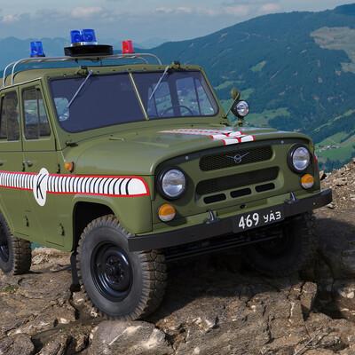 nailgun3d, UAZ, USSR, army