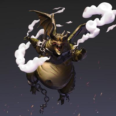 Zbrush, digital art, Digital 3D, game character, Character Modeling, Concept Art, Fantasy, dragon concept, dragon ZBrush
