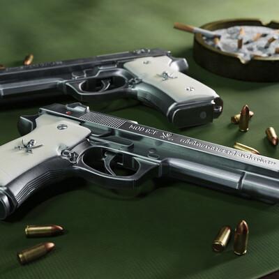 3dmodeling, 3dweapon, gun, guns, 3d, 3dart, 3dartwork, rendering, beretta92fs, weapons